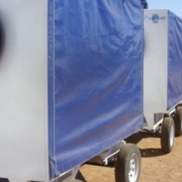 AIRPORT AND FACTORY TRAILERS.