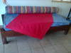 2 x SOLID SLEEPER WOOD  COUCH / BEDS