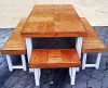 Patio table Farmhouse series 1900 Combo 2 Two Tone