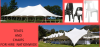 Tent and chairs for hire