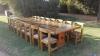 Huge 16 seater logwood table s