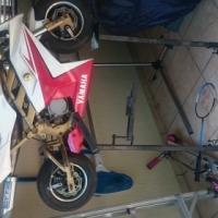 Mini moto. Pollini engine.  Water-cooled