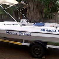 5M Ski/Fishing Boat 70HP Evenrude Motor in Good Condition on Trailer For Sale