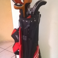Maxed golf set with Cleveland driver.