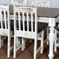 7 Piece Dining Room Set for Home and Restaurant