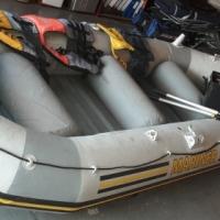 Intex Mariner infltable rubber boat & Jarvis Marine Watersnake trolling motor.