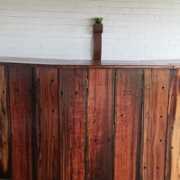 Bar made from Sleeper Wood