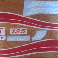 Mercury outboard cowl motor graphics kits decals sticker sets