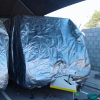 Medium Silver Caravan Cover 4.6m
