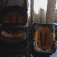 Preloved Chelino Pram and car seat for sale