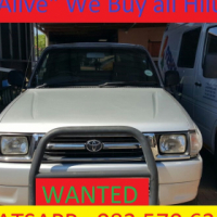 Wanted Toyota Hilux Bakkies Countrywide