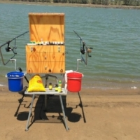 Fishing box and tripod stand for sale