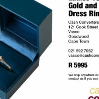 Ladies 18ct Yellow Gold and Diamond Dress Ring for sale  South Africa