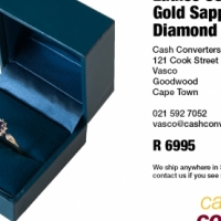 Ladies 9ct Yellow Gold Sapphire and Diamond Dress Ring for sale  South Africa