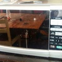 Silver LG Microwave
