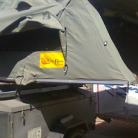 Eezy Awn Rooftop tent fitted onto a trailer