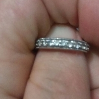 Sterling silver cubic zirconia ring, used for sale  West Rand
