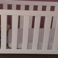Wooden cot for sale. good as new,