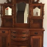Antique walnut sideboard (1800's)