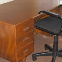 Office Desk 6 draws and high back chair