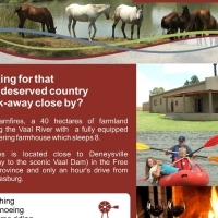 COUNTRY GETAWAY - SELFCATERING FARMHOUSE ON THE VAAL