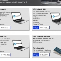 pre owned/demo laptops