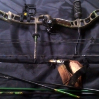 Diamond brand Razor edge compound bow with arrows for sale