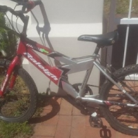 Boys red Raleigh Bicycle for sale.