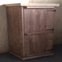 Kitchen Cupboard Farmhouse series Free standing 1800 for Broom - Stained