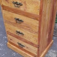 4 Drawer Pine Cabinet (640x520x1000)