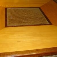 Stinkwood & Beechwood Diningroom Table Chairs & Mirror