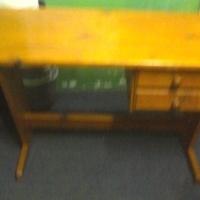 Brown Wooden Pine Desk