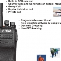 RTS DV3950 GPRS WiFi long distance two way radio with gps