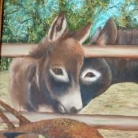 Original Donkey Painting.
