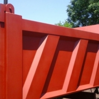 Tipper Body with subframe and tip Cylinder