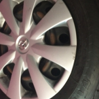Toyota profetional rims n tyres wheelcaps 90% tread