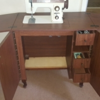 Lovely Sewing Machine in a Stand