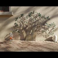 3 Laser cut Baobab Trees each