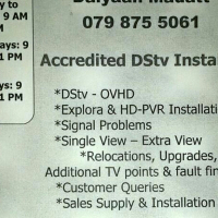 DStv & OVHD Installar Contact 0798755061