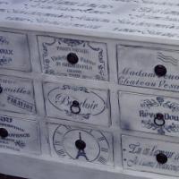 White French Pine Multi Drawer Cabinet (930x495x600)