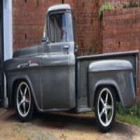 1958 Chevrolet Apache Stepside RATROD Bakkie with Patina. It has a V8 350 Small Block Chevy Engine