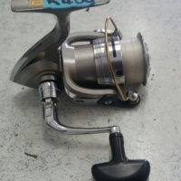 Bass reel, Daiwa Regal 2500-5ia.