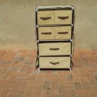 WARDROBE PORTABLE. MAINSTAYS 4 shelf wardrobe & 6 DRAWER wardrobe