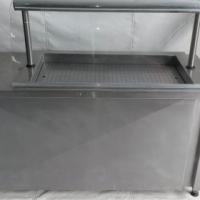 Warm display unit curvedglass+base
