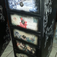 Classic Cabinet with 5 Drawers (400x510x1000)