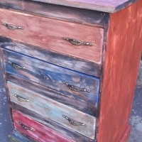 Shabby Distressed Chest with 4 Drawers (640x520x1000)