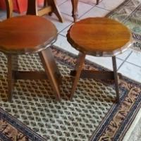 Matched pair of Imbuia Side Tables