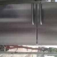 Bosch silver fridge freezer 400l