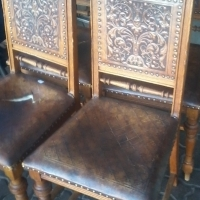 Antique Boer War Dining Chairs