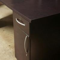 L-Shaped Mahogany Office Desk code: 9. R1800
